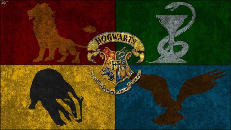 hogwart houses flag