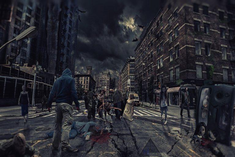 zombie apocalypse scene