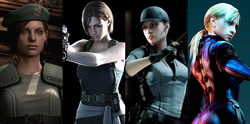 Jill Valentine and her many looks